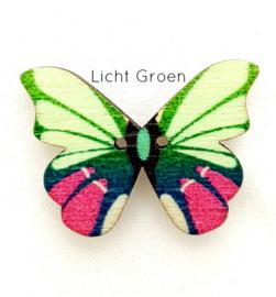 Knoop Houten Vlinder - Licht groen
