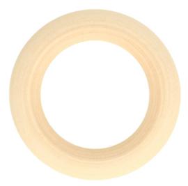 Houten ringen naturel - 56mm