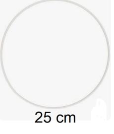Ring voor dromenvangers - 25 cm Wit
