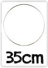 Ring voor dromenvangers - 35 cm RVS