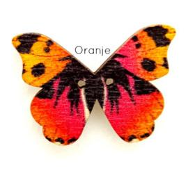 Knoop Houten Vlinder - Oranje