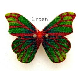 Knoop Houten Vlinder - Groen