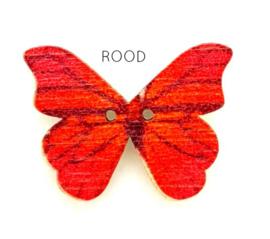 Knoop Houten Vlinder - Rood