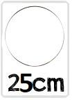 Ring voor dromenvangers - 25 cm RVS