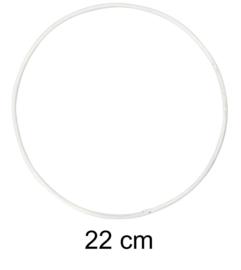 Ring voor dromenvangers - 22 cm Wit