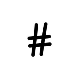 Stempel HiH - hashtag