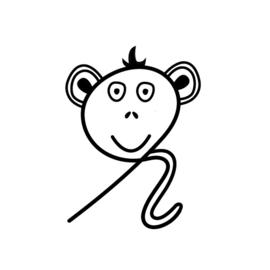 Stempel - krul aap