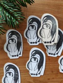 Stempel Pinguin en jong
