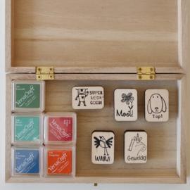 SET beloning A in houten kist S