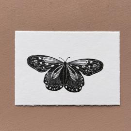 Kaart oud Hollands geschept - vlinder