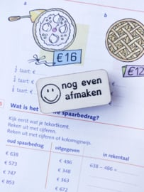 Stempel smiley - 'nog even afmaken'