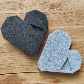 Onderzetters origami hart