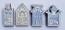 Stempel Amsterdamse huisjes