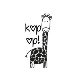 Stempel - giraffe 'kop op!'