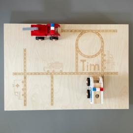 Speelbak L thema ambulance, brandweer & politie