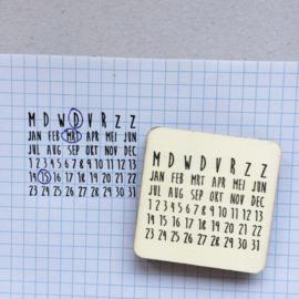 Stempel jaarkalender