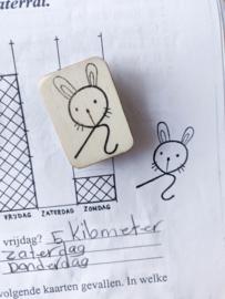 Stempel - krul konijn