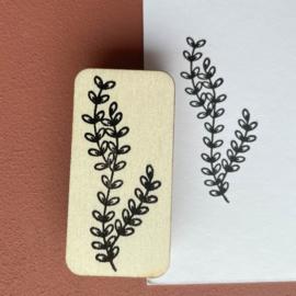 Stempel botanische blaadjes