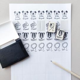 Stickers formaat beloningsstempels