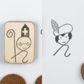 Krulstempels Sint - Piet