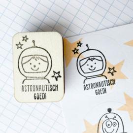 Stempel astronaut - astronautisch goed!