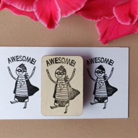 Stempel - superheld 'awesome!'