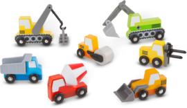 Werkvoertuigen set - 7 voertuigen
