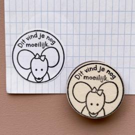 Stempel  muis - Dit vind je nog moeilijk.