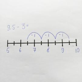 Stempel getallenlijn halven