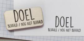 Stempel DOEL behaald/nog niet behaald