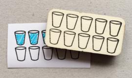 Stempel 'water drinken'