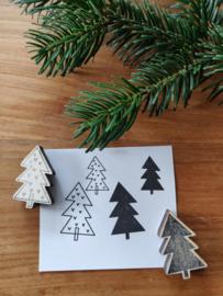 Stempels kerstboom