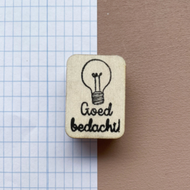Stempel lamp - goed bedacht!