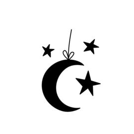 Stempel - maan en sterren