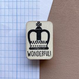 Stempel Engels - Wonderful!
