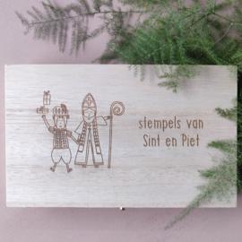 Houten kistje Sinterklaas