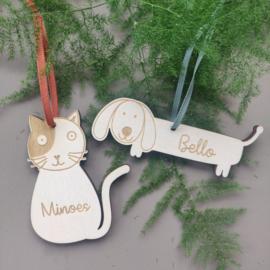 Kersthanger hond of kat