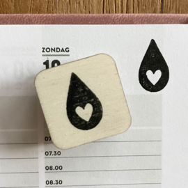 Stempel mini - druppel (menstruatie)