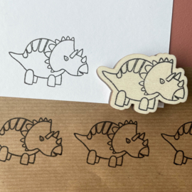 Stempel dino - triceratops