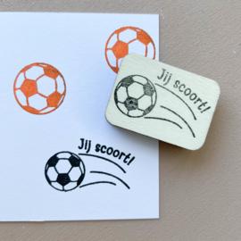 Stempel voetbal - Jij scoort!
