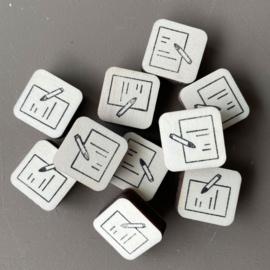 Stempel mini - papier & potlood