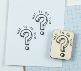 Stempel Wat is de som?