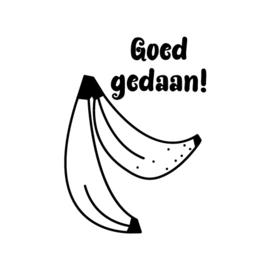 stempel - banaan 'Goed gedaan!'