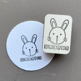 Stempel konijn - konijnensprong!