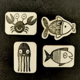 Stempelset zeedieren