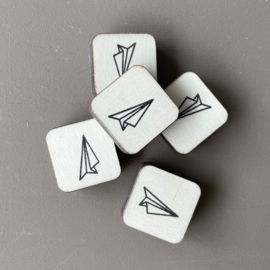 Stempel mini - origami vliegtuigje