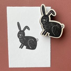 Stempel konijn met hangoor