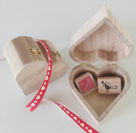Houten kistje hart