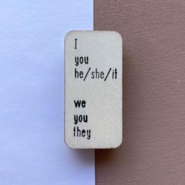 Stempel persoonlijk voornaamwoord - Engels