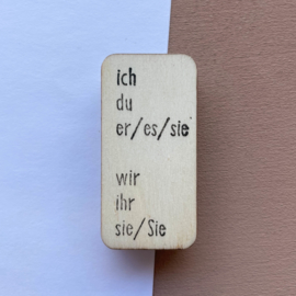 Stempel persoonlijk voornaamwoord - Duits